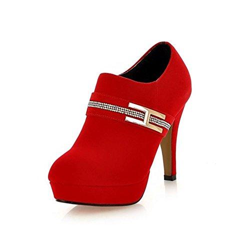 chaussures européennes et américaines de la cheville de la mode/faux diamant/femmes Zipper chaussures/chaussures de mariage de robe rouge