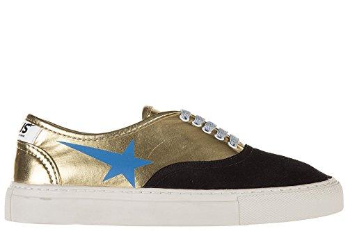 Golden-Goose-zapatos-zapatillas-de-deporte-mujer-en-piel-nuevo-hause-back-oro