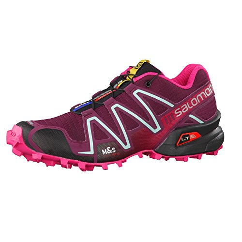 Salomon Women's Speedcross 3 Bordeaux/Hot Pink/Lotus Pink 11 B - Medium (Speedcross 3 compare prices)