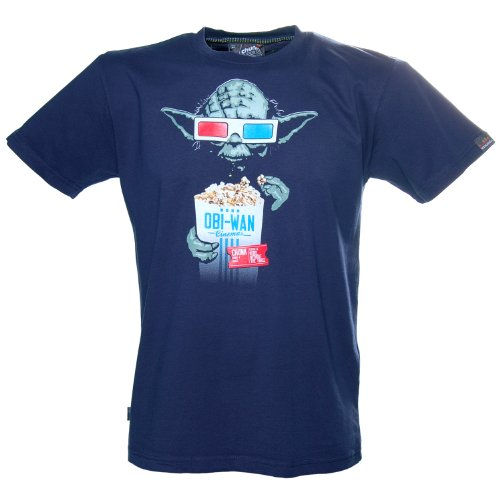 star wars 3d shirt. funny green organic star wars shirts for earth day. CHUNK Star-Wars Yoda 3D Glasses T-Shirt Blue S