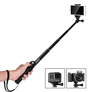 "Luxebell Selfie Stick Handheld Monopod 40.5"" with Bluetooth Shutter for Smartphone, GoPro Hero 1 2 3 3+ 4 and Most Action Camera (Bluetooth Shutter for Smartphone Only)"