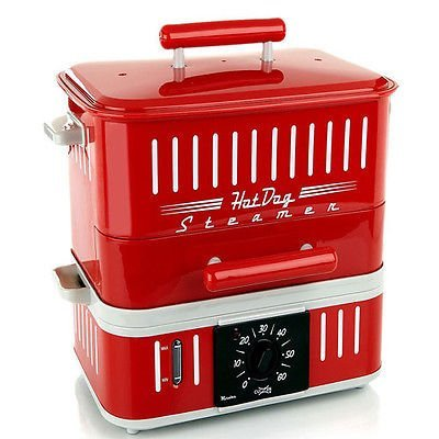 Cuizen 800-Watt Hot-Dog Steamer With Bun Warmer