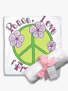 Light of Mine Designs Peace Green Receiving/Swaddling Blanket