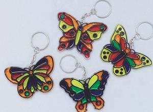 Butterfly Sun Catcher Key Chain Craft Kit (Makes 12)