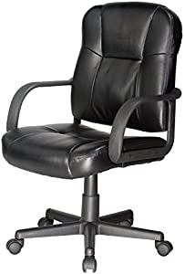 Comfort Products 60-6814 Leather Task Chair with Stress-Reducing Massage