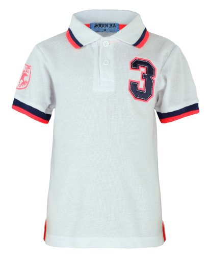 Kids Polo Shirt 3 Print In White 1-2 Years (Size 2)