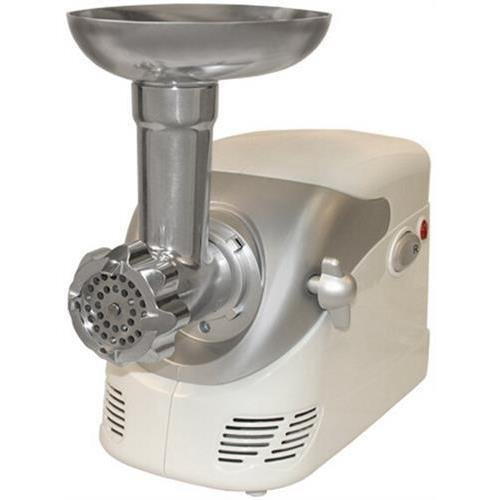 Weston 82-0103-W #5 Deluxe Electric Meat Grinder With Shredder / Slicer Attachment, White