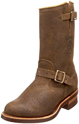 "Chippewa Men's 27911 11"" Bomber Engineer Boot,Tan,6 D US"