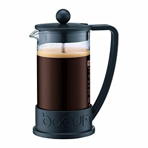 Bodum New Brazil 3-Cup French Press Coffee Maker, Black