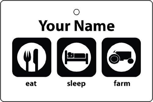 personalised-eat-sleep-farm-car-air-freshener-christmas-stocking-filler