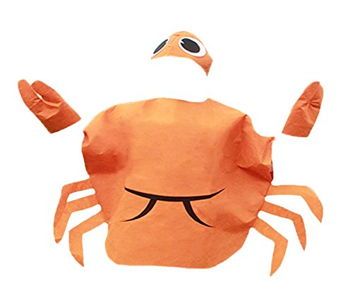 [Orange Crab Animal Costume Set Party Wear Unisex Children Clothing 3+ (Orange)] (Crab Costumes)