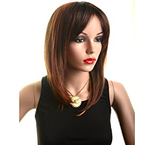 Cosplay Wigs Cute Women's Medium Long Staight Wig Party Wig Cosplay Wigs