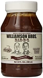 Williamson Bros Bar-B-Q Sauce Roasted Garlic Sauce, 32 Ounce