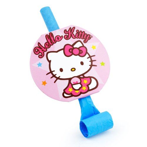 Amscan Hello Kitty Balloon Dreams Party Blowouts, 8-Count