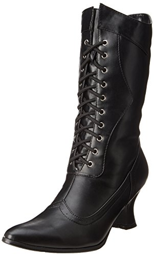 Ellie Shoes Women's 253 Amelia Slouch Boot, Black Polyurethane, 8 M US