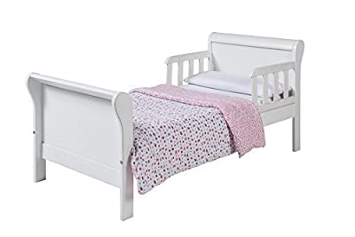 Daisy Junior Toddler Sleigh Bed White Wooden Pine Bedroom Nursery Childrens Kids