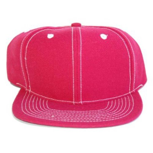 Blank Vintage Retro Red / White Stitched Baseball Cap Hat