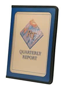 Smead Poly View Front Pad Folio, Clear Front Pocket, Letter Size, Blue (85848)