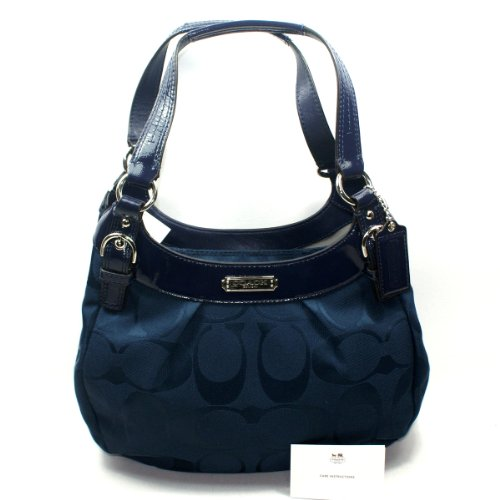 Coach Soho Signature Hobo Shoulder Bag Navy (Navy Blue) #19445 Image