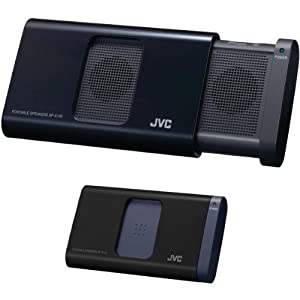 JVC SPA130BE Portable Sliding Speaker for iPod/ iPhone and Laptop - Black