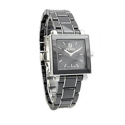 Fendi Quadro Ceramic Ladies Quartz Watch - F621210