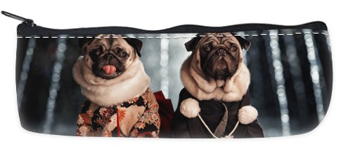 Pugs In Costumes Pencil Case School Pencil Case Cosmetic Makeup Bag Storage Student Stationery Zipper (Cute Pugs In Costumes)