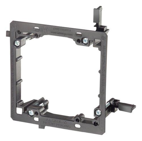 Arlington LV2HD 2-Gang Heavy-Duty Low Voltage Mounting Bracket, Black, 25-Pack