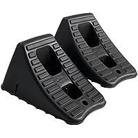 Set of 2 FloTool 11930MI Heavy Duty Wheel Chocks (Black)