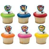 48 Paw Patrol Cupcake Rings / Party Favors