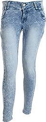 EBONY Women's Slim Jeans (7091_30, Blue, 30)