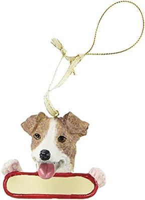 Jack Russell Terrier Dog Santa's Pal Christmas Ornament