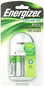 Energizer CHVCWB2 Overnight NiMH AA/AAA Charger With 2 2000mAh AA Batteries