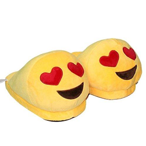 Demarkt-Emoji-Minions-Unisex-Zapatillas-Invierno-Casa-interior-slippers-De-Felpa-Zapatos
