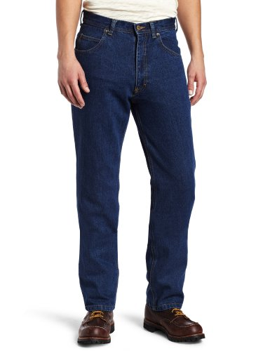 Key Apparel Men's Heavyweight Traditional Fit Enzyme Wash Indigo Denim Jean, Denim, 36x30