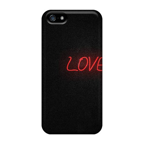 Iphone 5/5S Hard Back With Bumper Silicone Gel Tpu Case Cover Love It Wallpaper front-1003605