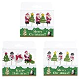 【クリスマス景品】クリスマスキャンドル・マスコット5P(12個)  / お楽しみグッズ(紙風船)付きセット