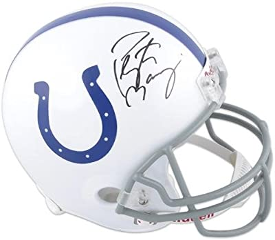 Peyton Manning Indianapolis Colts Autographed Riddell Replica Helmet - Fanatics Authentic Certified - Autographed NFL Helmets