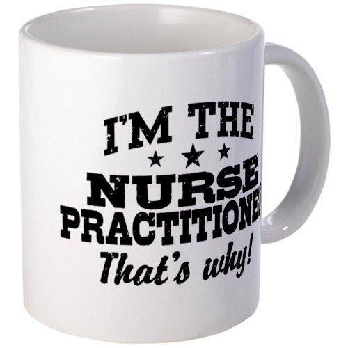Cafepress Funny Nurse Practitioner Mug - Mega White