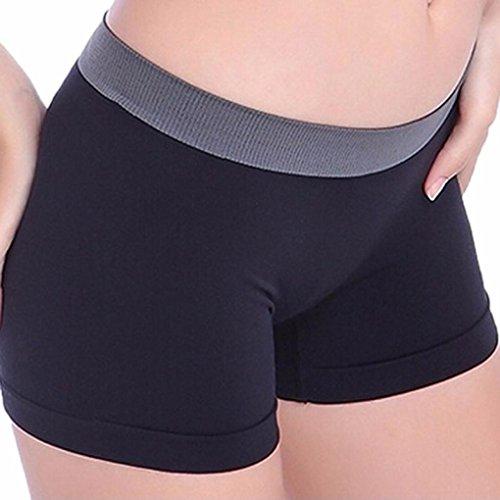 Amlaiworld Yoga Pantaloni corti,Donna estate sport palestra allenamento magro cintura Yoga pantaloncini pantaloni ( nero)