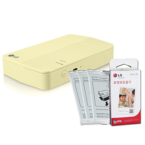 PrinterPaper-SET-New-LG-Pocket-Photo-Printer-3-PD251-Lime-Yellow-Follow-up-model-of-PD241T-PD239-LG-Zink-Photo-Paper-30-Sheets