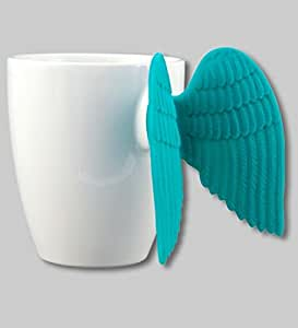 Pylones Angel Time Coffee Tea Cup Mug with Wings, Blue