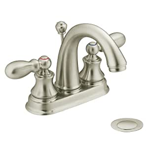 Moen harlon bathroom sink faucet brushed nickel 84238bn delta faucets brushed nickel Amazon bathroom faucets moen