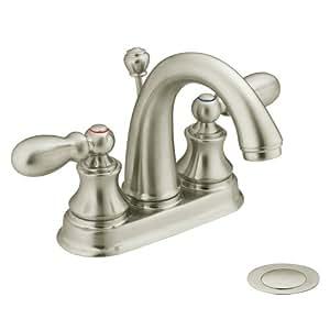 Moen Harlon Bathroom Sink Faucet Brushed Nickel 84238bn Delta Faucets Brushed Nickel: amazon bathroom faucets moen