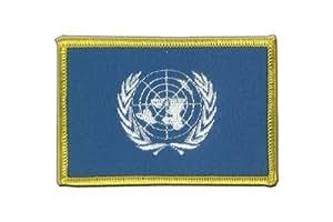 MaxFlags® écusson brodé drapeau ONU 6x8cm