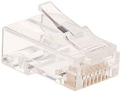 Cat6 Plug Solid W/Insert 50U 100pcs/Bag