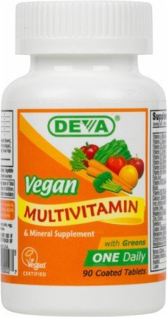Deva Vegan Vitamins Vegan, Multivitamin With Iron, 90 Tab