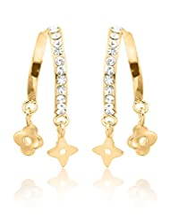 BIG Tree 18K Gold Plated Hanging Star Earring For Women.