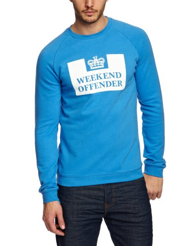 Weekend Offender Peneteniary Contrast Men's Jumper Inter Blue Medium