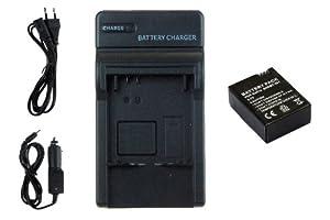 Batería AHDBT-301 + Cargador para Gopro Hero3 Black, White & Silver Edition -1050mAh-  Deportes y aire libre Más información y comentarios de clientes