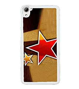 Red Star 2D Hard Polycarbonate Designer Back Case Cover for HTC Desire 826 Dual Sim